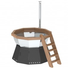 Банный чан 10 граней на подставке с ветрозащитой